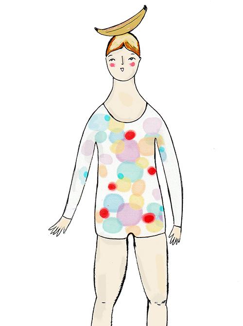 Rektangelformad - Jag har en rak kropp med lika breda axlar som midja och höft.